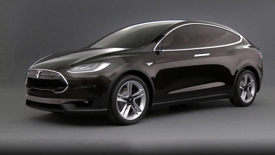 Tesla model x crossover elettrica a sette posti for Tesla model x porte
